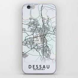 Dessau, Germany, White, City, Map iPhone Skin