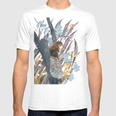 waiting for autumn MEDIUM Mens Fitted Tee White