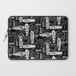 Gamer Lingo-Black and White Laptop Sleeve