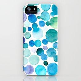 blue bubbles iPhone Case