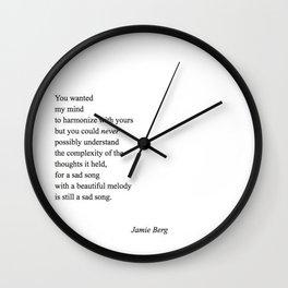 sad song Wall Clock