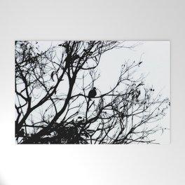 Dove Bird & Winter tree Silhouette Welcome Mat