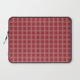 Christmas Cranberry Red Jelly Tartan Plaid Check Laptop Sleeve