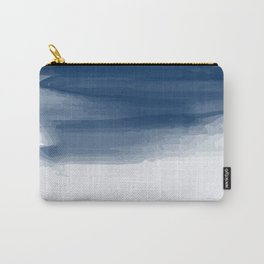 Blue abstract brush strokes pattern Carry-All Pouch