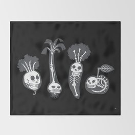 X-rays vegetables (black background) Throw Blanket