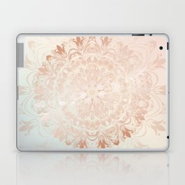 Rose Gold Blush Mint Floral Mandala Laptop & iPad Skin