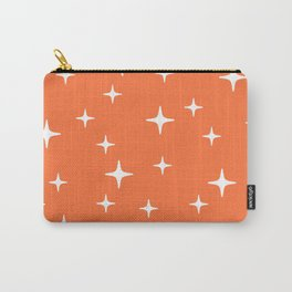 Mid Century Modern Star Pattern 443 Orange Carry-All Pouch