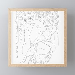 Matisse Line Art #4 Framed Mini Art Print