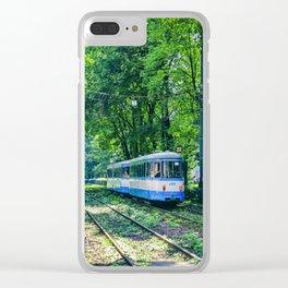 Polish Tram. Clear iPhone Case