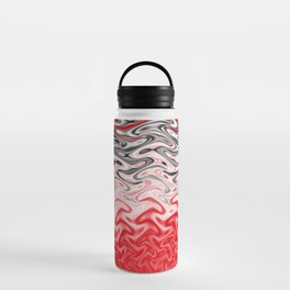 Fractal Rise in Red Black and White Water Bottle