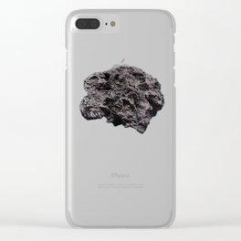 Glitched Meteorite Clear iPhone Case
