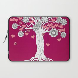 romantic tree on vinous Laptop Sleeve