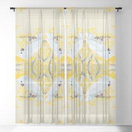 Natural Cockatoo Sheer Curtain