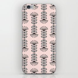 Retro Pink Floral Pattern-Mix and Match with Simplicity of Life iPhone Skin