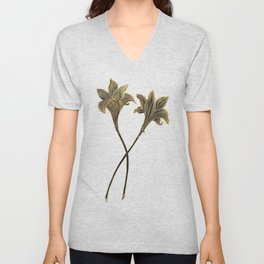 Indian Lily Daffodil Unisex V-Neck