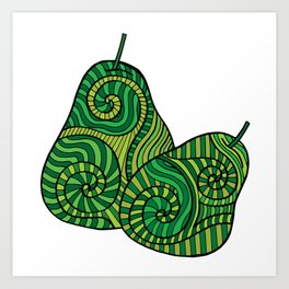 Green Pears for Kitchen Art Print