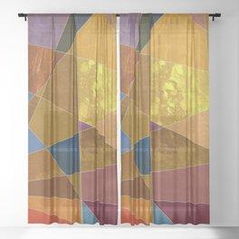 Abstract #331 Sheer Curtain