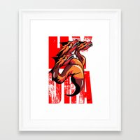hydra Framed Art Prints featuring Hydra by John Hernandez Art