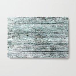 The Minty Wood Plank Metal Print