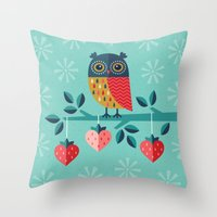 jazzberry Throw Pillows featuring OWL ALWAYS LOVE YOU by Daisy Beatrice