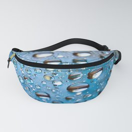 Water Drops on Glass Fanny Pack