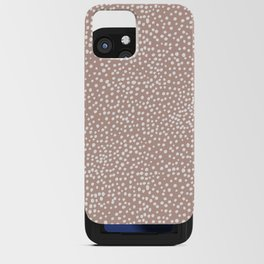 Little wild cheetah spots animal print neutral home trend warm dusty rose coral iPhone Card Case