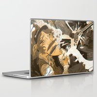folk Laptop & iPad Skins featuring Folk vs. Metal by Logan  Faerber