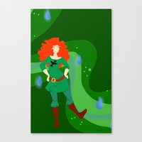 merida Canvas Prints featuring Merida by Eva Duplan Illustrations