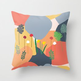 Blobs of Color Throw Pillow