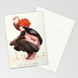 hinata, but with birbs Stationery Cards