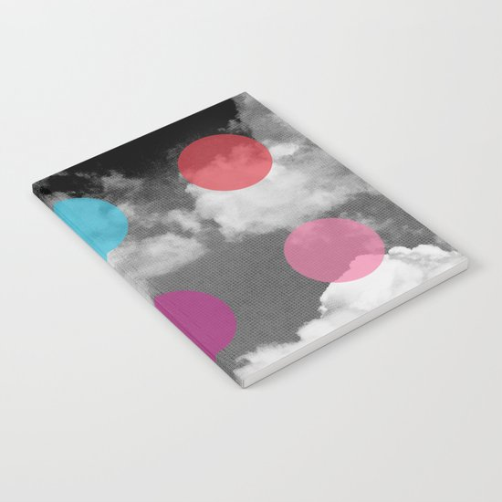 Storm Clouds + Colored Dots Notebook