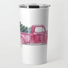 Vintage Christmas Truck Travel Mug