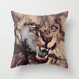 The Right To Smoke Cigars Throw Pillow