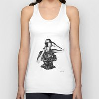 steve mcqueen Tank Tops featuring McQueen by BrittanyJanet Illustration & Photography