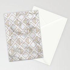 marble and gold geometric Stationery Cards