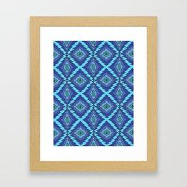 Blue Zap Framed Art Print