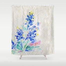 Blue Bonnets by Kathy Morton Stanion Shower Curtain