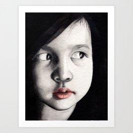 oriental girl Art Print