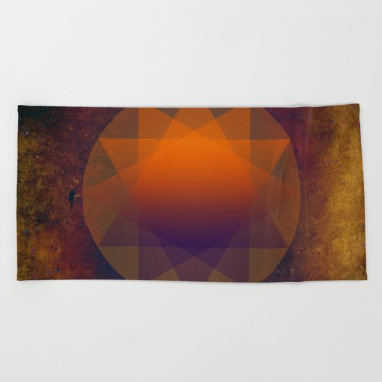 Merkaba, Abstract Geometric Shapes Beach Towel