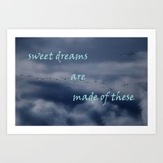 goose dreams Art Print
