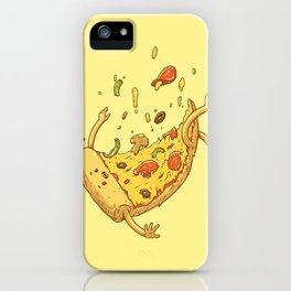 Pizza fall iPhone Case