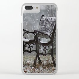 Snowfall in the loneliness Clear iPhone Case