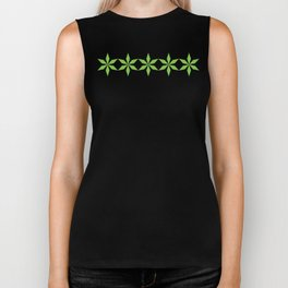 Spring Green Diamond Flowers Biker Tank