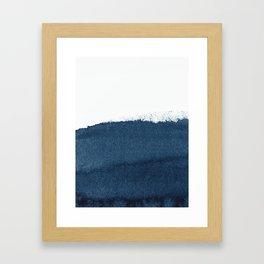 Indigo Art / Minimal Navy Print Framed Art Print