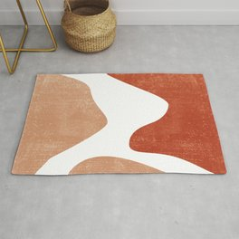 Terracotta Art Print 7 - Terracotta Abstract - Modern, Minimal, Contemporary Print - Burnt Orange Rug