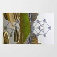 brussels Area & Throw Rugs featuring Atomium Brussels Painted Photography by Premium