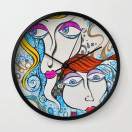Crystal Blue Persuasion Wall Clock