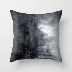 rain abstract Throw Pillow