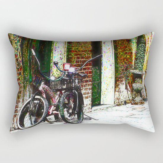 Two Bicycles In the Alley Rectangular Pillow