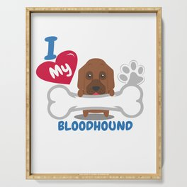 BLOODHOUND - I Love My BLOODHOUND Gift Serving Tray